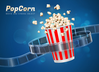 popcorn movie cinema object
