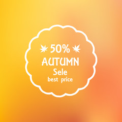 sale flyer a discount on autumn blurred background vector