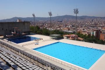 Barcelona Spain Olympic Public pool