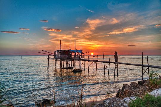 Adriatic sea coast in Chieti, Abruzzo, Italy