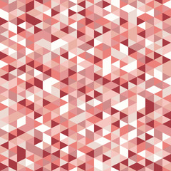 Retro style triangle pattern. Randomly colored triangles, vertical layout. Colors coral. Abstract geometric vector background.