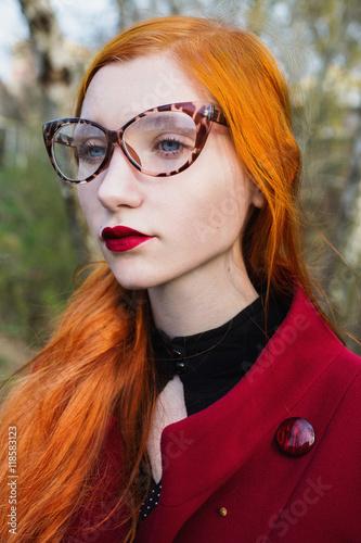 Pale skinned redhead