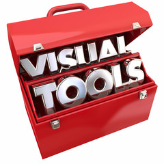 Visual Tools Learning Education Resources Toolbox 3d Illustratio