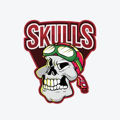 skulls illustration design colorful