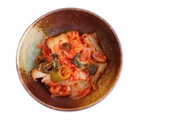Kimchi on White Background