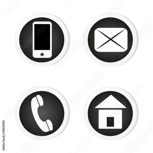 quot vector contact buttons email  phone  mobile  address Purple Desert Mountain Vector Icon Tiny Snapchat Icon Vector