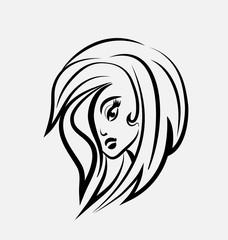 Logo pretty woman face