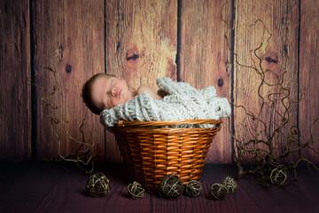 Neugeborenes Baby, Newborn, Vintage