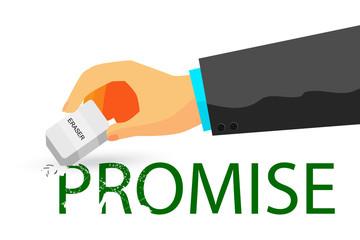 illustration for breaking a promise