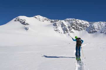 Ski touring winter