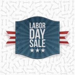 Labor Day Sale greeting paper Label