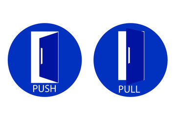 Push and Pull Door Sign