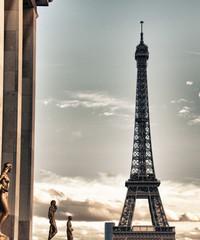 Wall Mural - View of Eiffel Tower, Paris