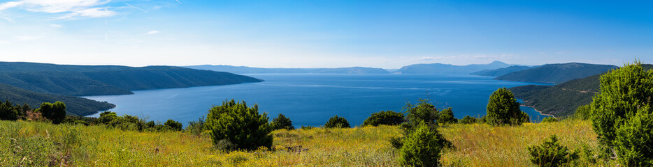 Panorama der inselwelt in der Kvarner Bucht