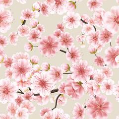 Seamless of pink Sakura. EPS 10