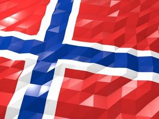 Flag of Bouvet Island 3D Wallpaper Illustration