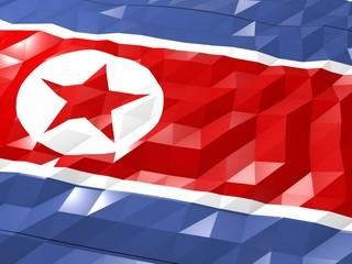 Flag of North Korea 3D Wallpaper Illustration