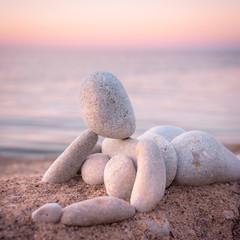 Figurine of pebbles