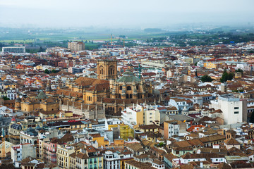 View of  Granada with Cathedral