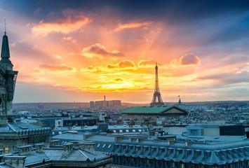 Paris buildings and skyline, France