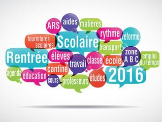nuage de mots bulles : rentrée scolaire 2016