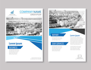 annual report brochure flyer design template vector, Leaflet cov