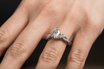 Hand with wedding rings