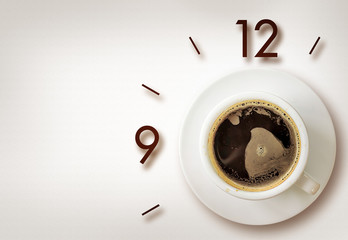 coffee time background with space for text. over light 01