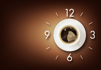 coffee time background with space for text. over light