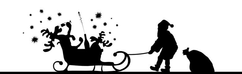 Weihnachten - betrunkener Elch