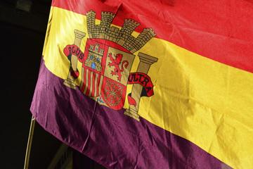Spanish Republican flag waving