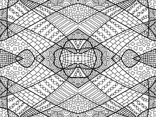 ZENTANGLE ABSTRACT BACKGROUND BLACK WHITE 1