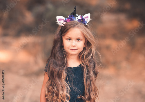 c532b2c0e4d5 Beautiful brunette kid girl 4-5 year old with long healthy hair ...
