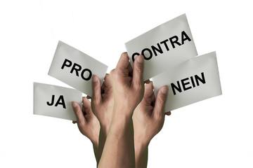 Abstimmungen mit Pro und Contra