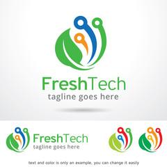 Fresh Tech Logo Template Design Vector