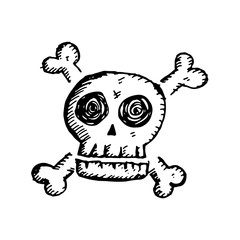 Skull icon illustration design
