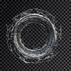 water splash radial transparent 3d rendering