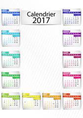calendrier 2017 (férié inclus) vertical
