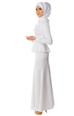 Muslim young woman isolated
