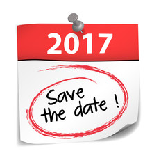 post-it almanach : save the date 2017