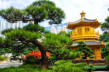 Golden pagoda in Nan Lian Garden,This is a government public par
