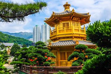 The Pavilion of Absolute Perfection inside Nan Lian Garden backg