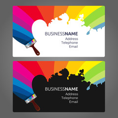 Business card Paint