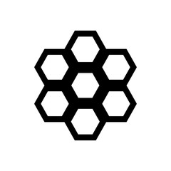 Honeycomb icon in simple style on a white background