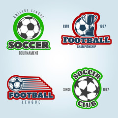 Soccer Colored Logos