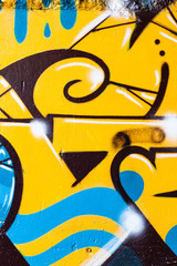 Graffiti closeup lines and shapes