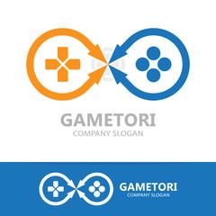 Game controller logo template.