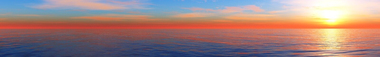 panoramic ocean sunset