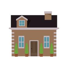 flat design pretty house icon vector illustration