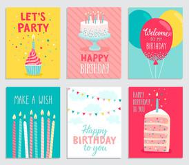 Canvas Print - Birthday card set.